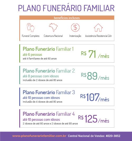 Plano Funerário Familiar - A partir de R$71,00 mensais - Clique aqui e proteja a sua família